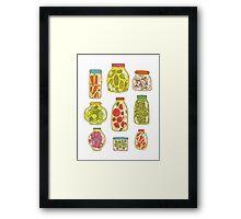 Autumn pickled vegetables Framed Print
