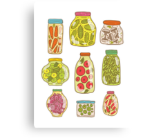Autumn pickled vegetables Canvas Print