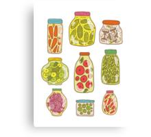Autumn pickled vegetables Canvas Print