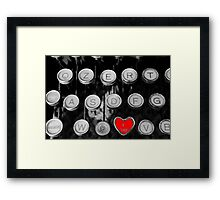 like on old typewriter Framed Print