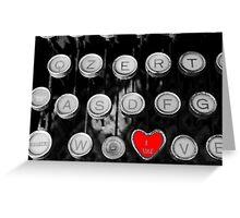 like on old typewriter Greeting Card