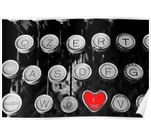 like on old typewriter Poster
