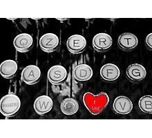 like on old typewriter Photographic Print