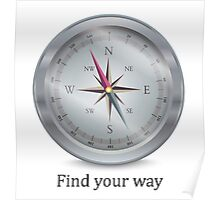 Compass. Find your way Poster