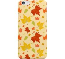 Autumn leaves seamless pattern iPhone Case/Skin