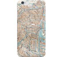 Vintage Map of Amsterdam (1905) iPhone Case/Skin