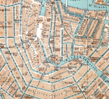 Vintage Map of Amsterdam (1905) Sticker