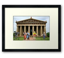 Cut….CUT!!! You're auditioning for the part of PLATO!!!!! Framed Print
