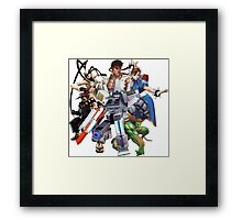 Street Figher X Gamer Geek Nation Framed Print