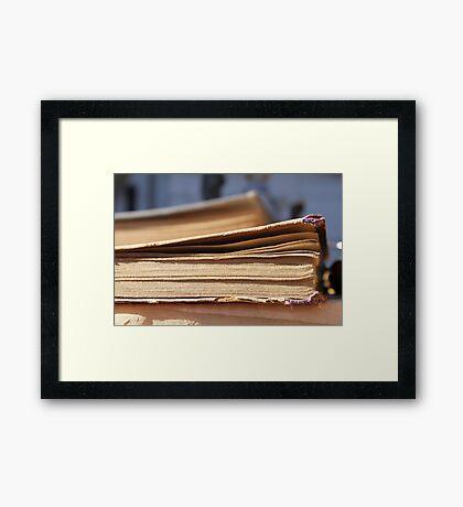 old book Framed Print