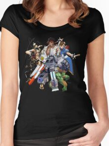 Street Figher X Gamer Geek Nation Women's Fitted Scoop T-Shirt