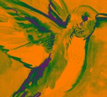Watercolor of hummingbird Sticker