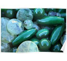 green stones Poster