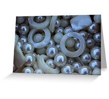 white  stones Greeting Card