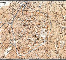 Vintage Map of Brussels (1905) by BravuraMedia
