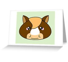 Cute horse - Farm animals collection Greeting Card