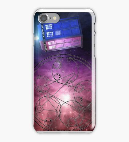 The Tardis and other wibbly wobbly timey wimey stuff. iPhone Case/Skin