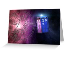 The Tardis and other wibbly wobbly timey wimey stuff. Greeting Card