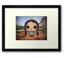 Dorothy on the Yellow Brick Road Framed Print