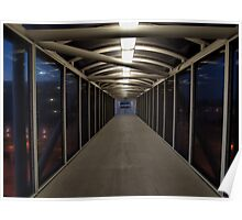 Amtrak Walkway, Corona, California Poster