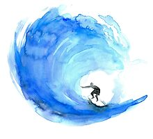 Surf Wave Art by Zendrawing