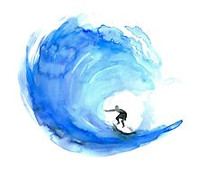 Surf Wave Art Photographic Print