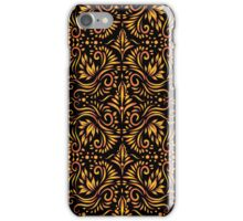 Decorative Ornamental Pattern  | Gold On Black iPhone Case/Skin