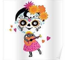 Day Of The Dead - Mexican Girl Poster
