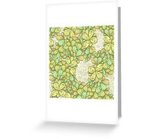 Green vintage ornament Greeting Card