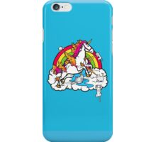 Laser-Shooting, Rainbow-Hugging, Cuteness-Exuding Cats from the Sky (Playing with a Unicorn) iPhone Case/Skin
