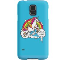 Laser-Shooting, Rainbow-Hugging, Cuteness-Exuding Cats from the Sky (Playing with a Unicorn) Samsung Galaxy Case/Skin