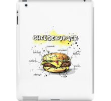 Cheeseburger Illustration with its Ingredients iPad Case/Skin