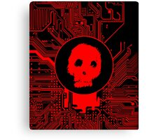 Red Blurry Skull (Cybergoth) Canvas Print