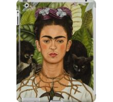 Self-Portrait with Thorn Necklace and Hummingbird  by Frida Kahlo iPad Case/Skin