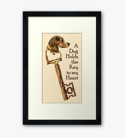 The Key To My Heart Framed Print