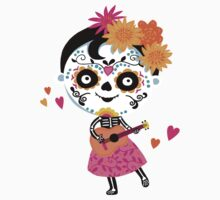 Day Of The Dead - Mexican Girl Kids Tee