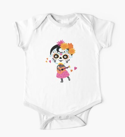 Day Of The Dead - Mexican Girl One Piece - Short Sleeve