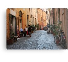 October  Morning in the streets of Rome Metal Print