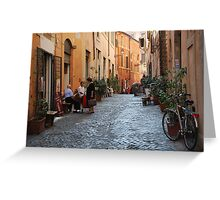 October  Morning in the streets of Rome Greeting Card