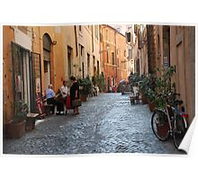 October  Morning in the streets of Rome Poster