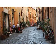 October  Morning in the streets of Rome Photographic Print