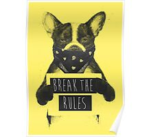 Rebel dog (yellow) Poster