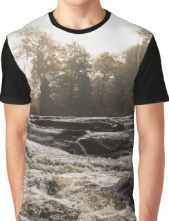Whiskey River - Rough Rapids and Soft Fog Graphic T-Shirt
