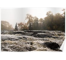 Whiskey River - Rough Rapids and Soft Fog Poster