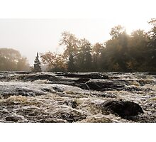 Whiskey River - Rough Rapids and Soft Fog Photographic Print