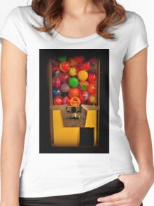 Gumball Machine Yellow - Series - Iconic New York City Women's Fitted Scoop T-Shirt