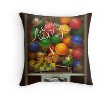 Gumball Machine Series - with Graffiti Burst - Iconic New York City Throw Pillow