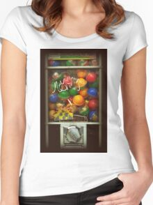 Gumball Machine Series - with Graffiti Burst - Iconic New York City Women's Fitted Scoop T-Shirt