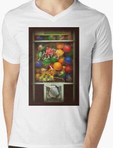 Gumball Machine Series - with Graffiti Burst - Iconic New York City Mens V-Neck T-Shirt