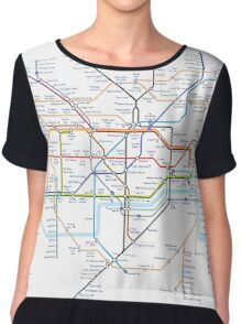 London Underground Tube Map as Anagrams Chiffon Top